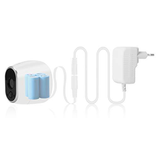 Netzteil Adapter und Kabel kompatibel mit Netgear Arlo Überwachung Kamera VMC3030 Smart Home Zubehör (EU Stecker, weiß)