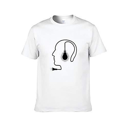Mannen Abstract Profiel Lamp Plug Inspirational T-Shirt Tiener Volwassen Grafische Tops Casual Tee