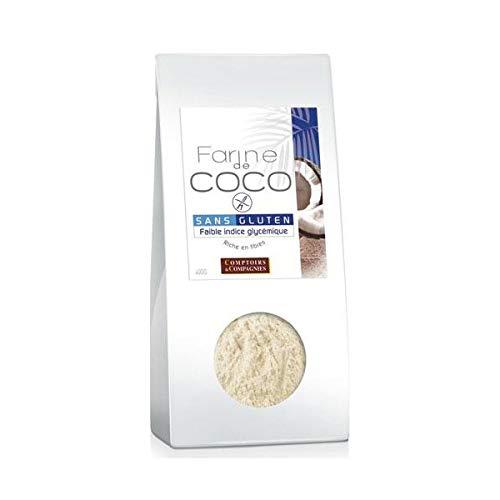 COMPTOIRS ET COMPAGNIES Farine de Noix de Coco Bio Commerce Equitable 400 g