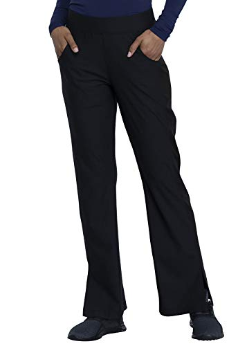 CHEROKEE Form CK091 Women's Mid-Rise, Moderate Flare Leg Pull-on Pant, Black, Medium