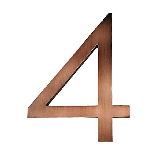 Zxxin-house number, Aged bronze 15cm Modern Building Signage Outdoor, Big Floating House Number, Door Numbers Address Plate, Strong and durable (Color : 33564AC 4)