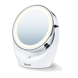 swivelling mirrors normal and 5 x magnification bright led light chrome finish 3 years guarantee Swivelling mirrors Normal and 5 x magnification Bright LED light High quality chrome finish 3 years guarantee