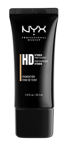 NYX Professional Makeup HD Foundation, Warm Beige, 1.12 Fluid Ounce