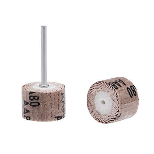8 Pieces 20x16mm Flap Wheel Abrasive sale Grains wit Head Luxury 80