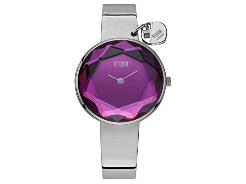 STORM London Alya Lazer Purple, Damenuhr, 5 bar Wasserdicht, Analoguhr, Mineralglas, Prismaglasschliff, Edelstahgehäuse, 47436/LP