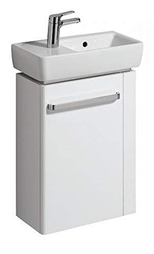 Keramag Renova Nr. 1 Comprimo NEU Handwaschbecken-Unterschrank 45 cm Weiß hochglanz, Weiß matt; Handtuchhalter rechts