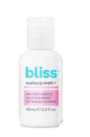 Bliss Makeup Melt Dry/Wet Gentle Jelly Cleanser With Rose Flower (TRAVEL SIZE)
