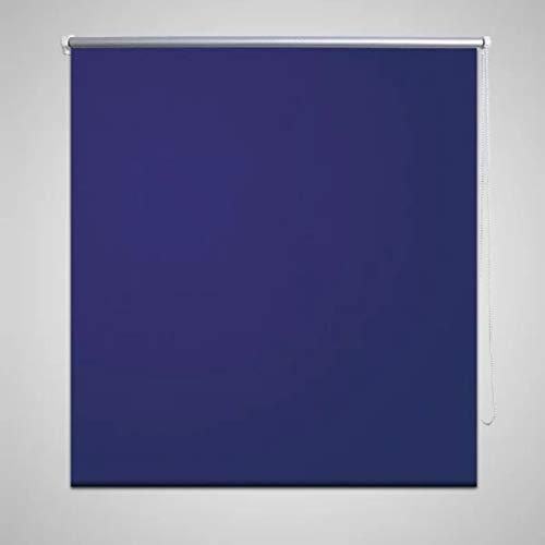 UnfadeMemory Tenda a Rullo, Avvolgibile Oscurante per Finestre e Porte Decorazione (Blu Marino, 120 x 230 cm)