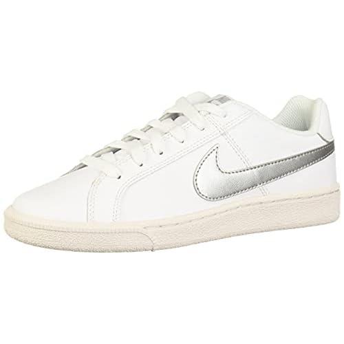 Nike Wmns Court Royale, Scarpe da Tennis Donna, Bianco (White/Metallic Silver 100), 35.5 EU