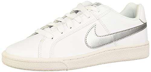 Nike Court Royale, Zapatillas para Mujer, Blanco (White / Metallic Silver), 37.5 EU