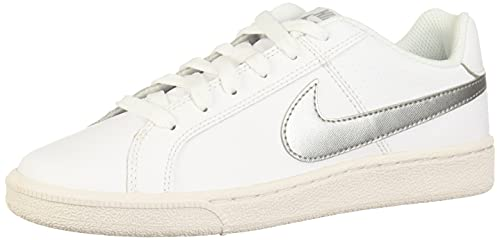 Nike Wmns Court Royale, Scarpe da Ginnastica Donna, Bianco (White/Metallic Silver 100), 36.5 EU