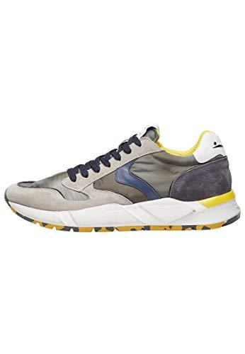 Arpolh Easy-Sneakers - Visillo blanco de nubuck y nailon técnico, Multicolor (multicolor),...