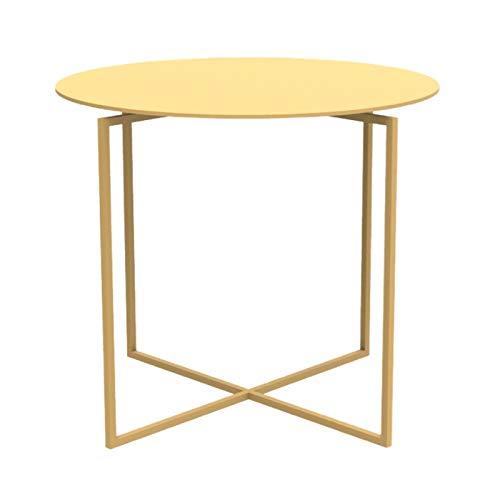 Mesa de centro para sala de estar Mesa de extremo redonda de metal, mesa lateral Matte premium Texture Tabla de café pequeña para sala de estar Baño de baño Balcón y oficina, 15.7 'DX13.7' H Mesa de c