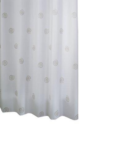 RIDDER 41327S-350 Duschvorhang Textil ca. 180 x 200 cm, Univers grau inklusive Ringe