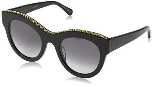 Stella McCartney SC0018S 001 Gafas de sol, Negro (001-Black/Grey), 50 Unisex Adulto