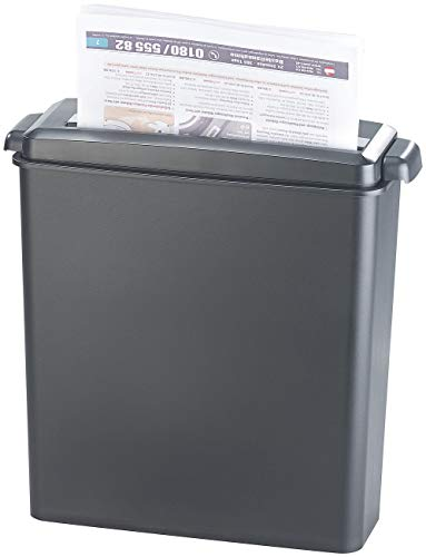 General Office Distruggi documenti: Distruggi documenti per 6 fogli A4 e schede, Taglio a strisce, 8 litri (Trituratore di file)