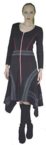 Dzhavael Couture Zip Front Dress (Black, Small)