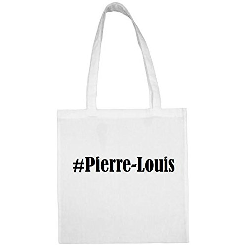 Tasche #Pierre-Louis Größe 38x42 Farbe Weiss Druck Schwarz