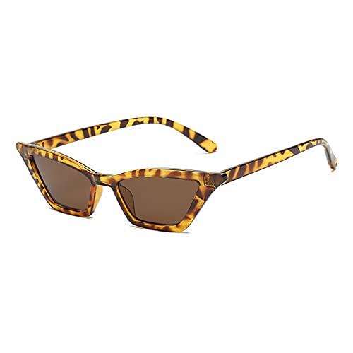 LUOXUEFEI Gafas De Sol Gafas De Sol Para Mujer Negro Rojo Leopardo Gafas De Sol Accesorios Femeninos Verano