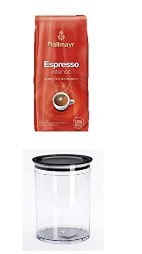 Dallmayr Espresso Intenso Bohnen, 1er Pack (1 x 1 kg) + 3 Liter Aroma-Dose für Kaffee Gebäck usw