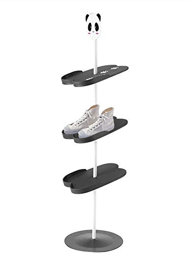 HERCHR Zapatero para niños, Estante Lindo para Zapatos para niños, Estante para Zapatos para niños(Negro)