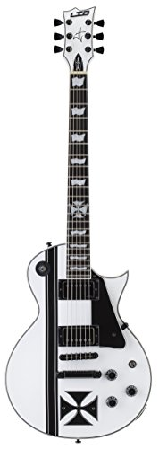 ESP LTD Iron Cross James Hetfield Signature Electric Guitar with Case, Snow White
