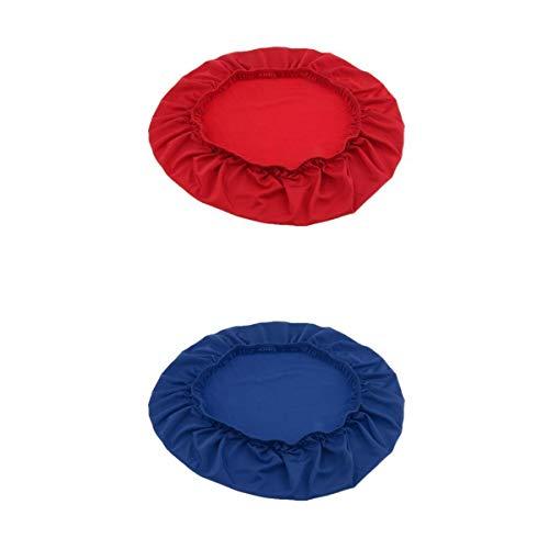 LOVIVER 2 x Cubierta de Taburete Protectores de Banqueta para Hotel Oficina - Rojo Azul