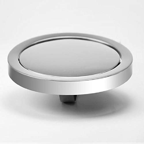 Artículos para el hogar WjEmbedded Acero Inoxidable Tipo Columpio Cubierta abatible Mueble de Cocina Bote de Basura Tapa Tapa, Tamaño: Espejo Redondo 24.5cm Diámetro (Plata) (Color : Plata)