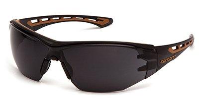 Carhartt CHB820ST Easley Safety Glasses, Gray Anti-Fog Lens, Black/Tan Frame - Quantity 12
