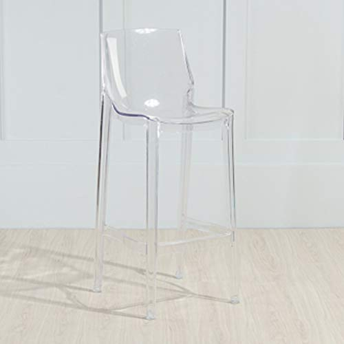 Bar stools-GAP Höhenverstellung- JBD Cafe Barhocker Kreative Hohe Fuß Stuhl Moderne Einfache Kunststoff Mode Sitz Starbucks Zähler Esszimmerstuhl (Farbe : Transparent, größe : 75cm Seat Height)