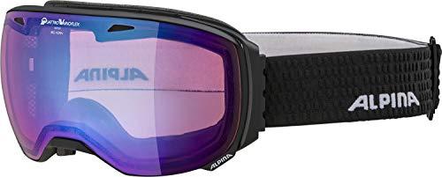 ALPINA Unisex - Erwachsene, BIG HORN QVM Skibrille, black matt, One size