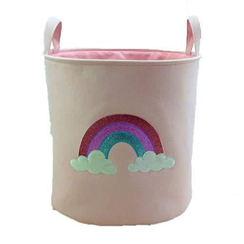 EmNarsissus Organizador de Almacenamiento en el hogar para niños, Cesta de lavandería Plegable para Ropa Sucia, Bolsa de cestas de Juguete para niña de Ballet Rosa