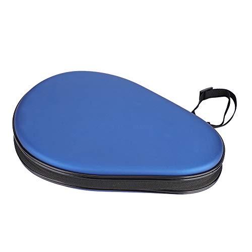 Funda de Ping Pong, Funda de Bate de Tenis de Mesa Funda de Raqueta de Tenis de Mesa PU Store Dos Raquetas de Tenis de Mesa (Azul)
