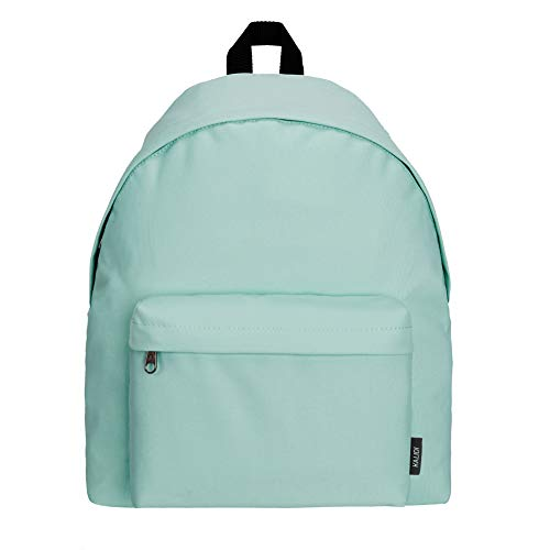 KALIDI Lightweight Backpack for Boys Girls Men and Women School Travel Casual Daypack Rucksack,Mint Green