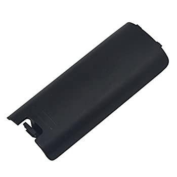 Replacement Battery Back Cover Case Door Sell Lid For Nintendo Wii Remote Controller (Black)