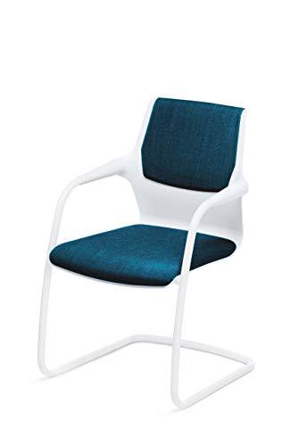 Sedus allright Freischwinger, Designstuhl, Stuhl, Konferenzstuhl, Besucherstuhl Blau, 57 x 56 x 86 cm