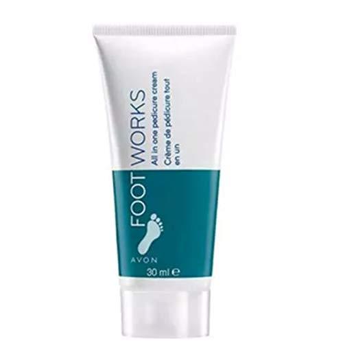 Avon Footworks Mini All In One Pedicura Cream-Viaje Tamaño 30 ml