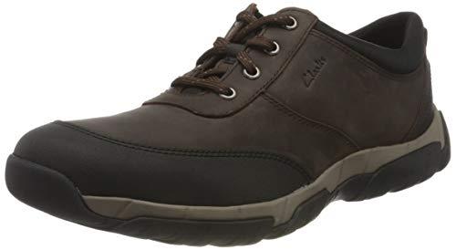 Clarks Herren Grove Edge II Wanderschuh, Brown Leather, 43 EU