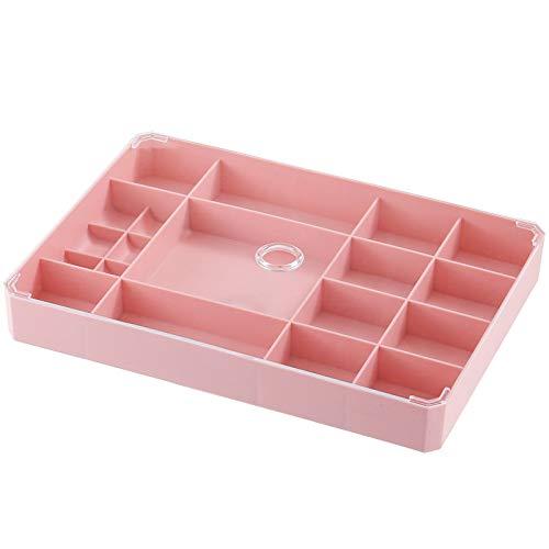 WLEYYY opbergdoos Sieraden doos sieraden opbergdoos Huishoudelijke plastic eenvoudig met deksel Aparte oorknopjes ketting