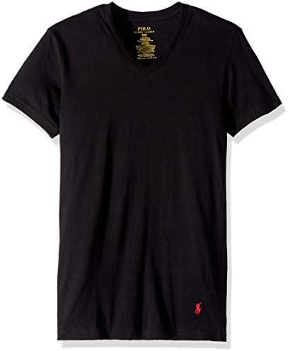 Polo Ralph Lauren Slim Fit Cotton V Neck T Shirt 3 Pack XL Black product image