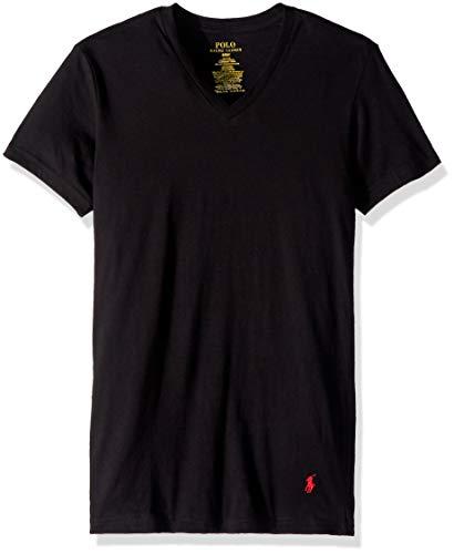 Polo Ralph Lauren Slim Fit Cotton V-Neck T-Shirt 3-Pack, L, Black