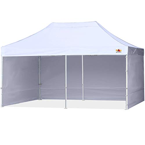 ABCCANOPY Ez Pop Up Canopy Tent with Sidewalls 10X20 Commercial -Series,White