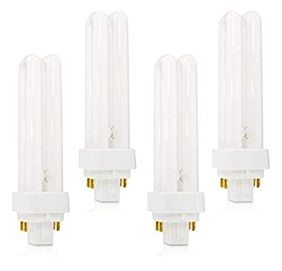 PLC-13W 827, 4 Pin G24q-1, 13 Watt Double Tube, Compact Fluorescent Light Bulb, Replaces Philips 38325-7 and Sylvania 20682