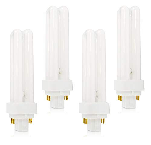 (4 Pack) PLC-13W 841, 4 Pin G24q-1, 13 Watt Double Tube, Compact Fluorescent Light Bulb, Replaces Philips 38328-1 PL-C 13W/841/4P/ALTO, Sylvania 20667 and GE 97597 - F13DBX/841/ECO4P