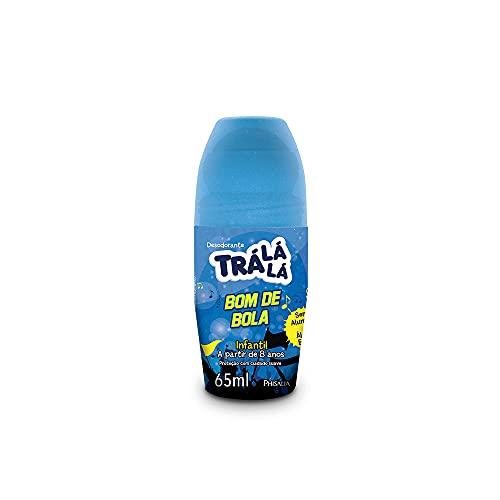 Desodorante Roll-On Bom de Bola, Trá Lá Lá, Azul, 65 ml