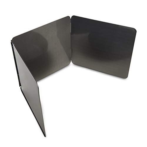 HIC Harold Import Co. 3-Sided Splatter Guard, 9 x 30-inches folds flat to 9 x 10.25-inches, Carbon Steel
