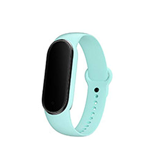 M5 Smart Armband Übung Schrittzähler, Herzfrequenz, Blutdruck, Erinnerung An Anrufnachrichten, Multifunktionales Sportarmband Helles Türkis