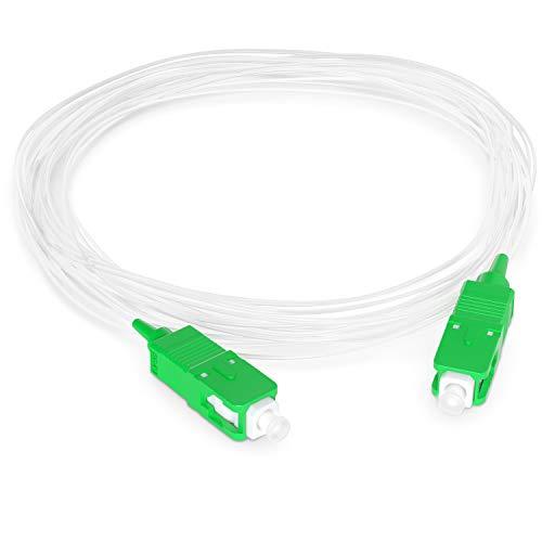 Octofibre Optisches Kabel (unsichtbar/transparent), Orange – Verlängerung Glasfaser – optisches Kabel für Box Orange Live Box, SFR, Boxe Faser, Bouygues Telecom, Bbox – SC-APC to SC-APC