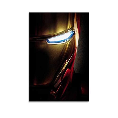 SSKJTC Impresión sobre lienzo para pared, diseño de Iron Man Tony Stark (60 x 90 cm)