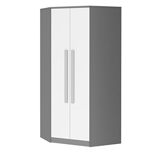 SMARTBett GmbH - Armadio angolare GIT grigio/bianco/grigio